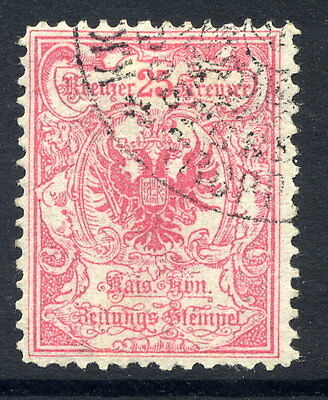 AUSTRIA 1890 25 Kr. Imperial Journal stamp perforated 12½, used.  Michel 9B