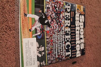 Mark Buehrle Signed Sports Illustrated Perfect Game White sox 2009 Ex