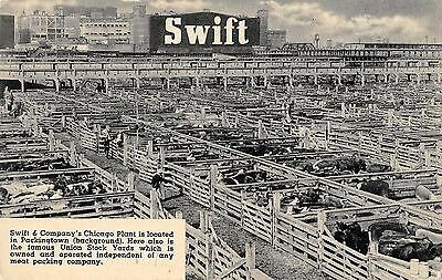 Chicago Illinois view of Swift & Co Plant Union Stock Yards vintage pc (Z27896)