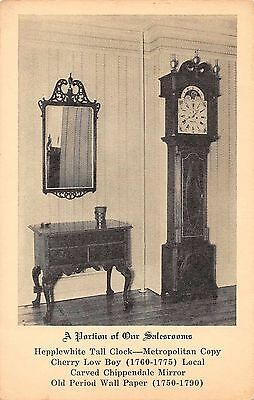 Advertisement grandfather clock antique furniture showroom blank back pc Z27775