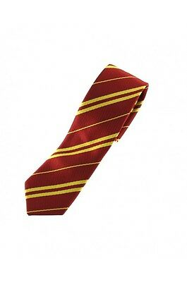 Maroon And Yellow Stripe Harry Potter Griffindor Tie Hogwart World Book Week  B3