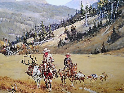 Olaf Seltzer Moose Authentic Hunting Vintage Print Sporting Shooting