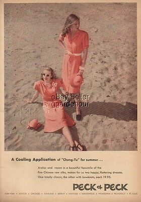 1945 Peck vintage women's summer~beach fashion dress ad