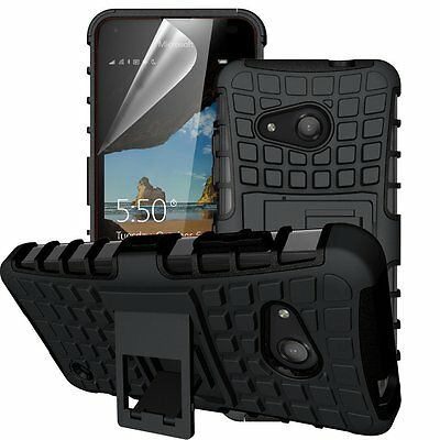 Shock Proof Armour Defender Rugged Hybrid Stand Case for Various Microsoft Lumia