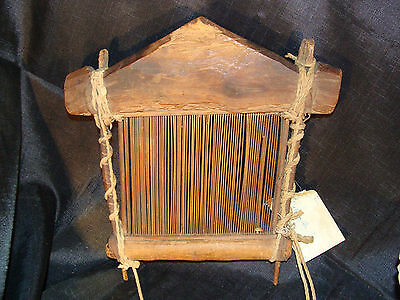 Old African Mali Tribal Bambara Tribe Weaving Loom Hand Carved