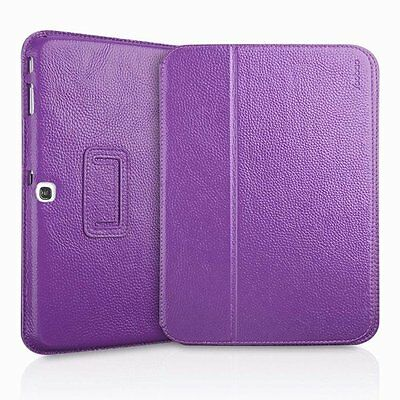 Cover for real calfskin leather Samsung Galaxy Tab 3 10.1'' (Purple)