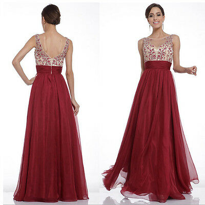 Women Bridesmaid Evening Gown Formal Party Prom Dress Chiffon Long Maxi Dresses