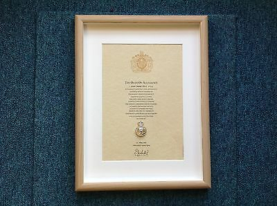 Army Catering Corps Oath Of Allegiance With Original Cap Badge