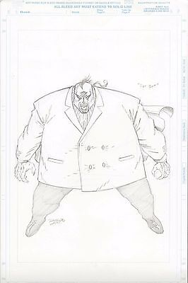 Ron Lim Fat Bat Original Art (Kingpin + Morbius) Marvel Comics Spiderman Toy Biz
