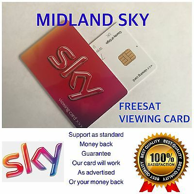 Activated Red Freesat Viewing Card Plus And Hd Uk Free 1St Class Postage