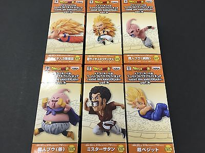 Dragon Ball Super World Collectable WCF ANIME 30th Anniversary Vol.4 4 Set of 6