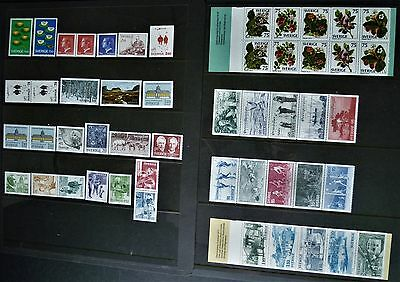 Sweden 1977 year set cpl  incl all pairs, booklet panes. Slania. MNH