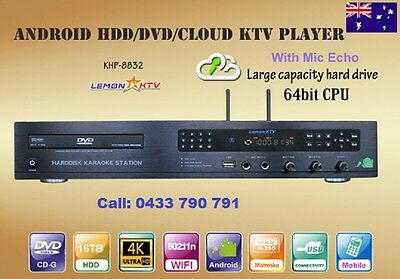 Karaoke Android KHP-8832 5TB HDD 32000 Vietnamese and English songs DVD Player