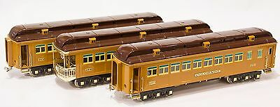 Lionel Classics State Set of 3 Passenger Observation Cars 2412 2413 2416 Mint