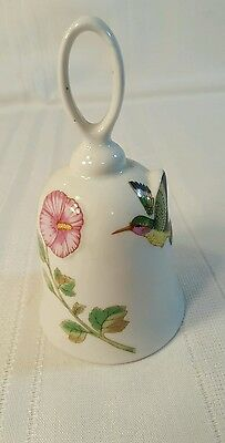 """J.S.N.Y. Taiwan White Porcelain Bell With Flower & Hummingbird, 5 1/4""""  1114"""