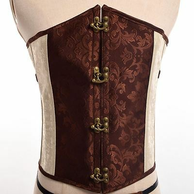 Women Gothic Overbust Steampunk Corset Steel Bone Lace Up Bustier Corset Top