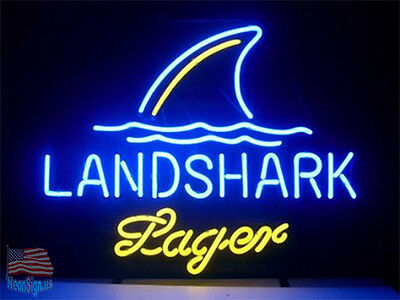 """Landshark Lager Grill Jimmy Buffets Beer Lager Neon Sign 20""""x16"""" From USA"""