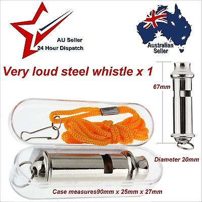 Emergency Police Style Security Survival Metal Whistle - Walking Hiking Camping