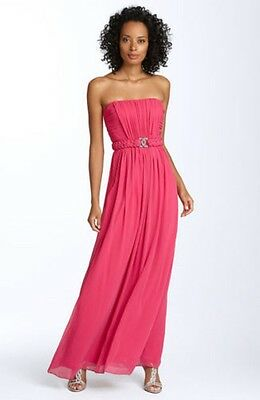 4c77fe971b1 NEW Max   Cleo Belted Chiffon Strapless DRESS GOWN SIZE 6 BERRY NORDSTROM