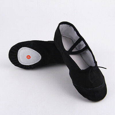 1pair Child Adult Canvas Ballet Dance Shoes Slippers Pointe Dance Gymnastics