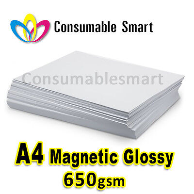 A4 650gsm Magnetic Glossy Inkjet Photo Paper Water Proof UV Resistant