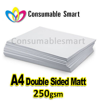 A4 250gsm Double Sided Matte Inkjet Photo Paper Water Proof UV Resistant