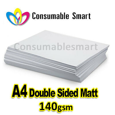 A4 140gsm Double Sided Matte Inkjet Photo Paper Water Proof UV Resistant