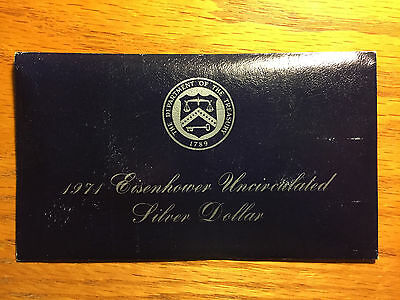 1971-S Eisenhower Uncirculated Silver Dollar 40% Silver