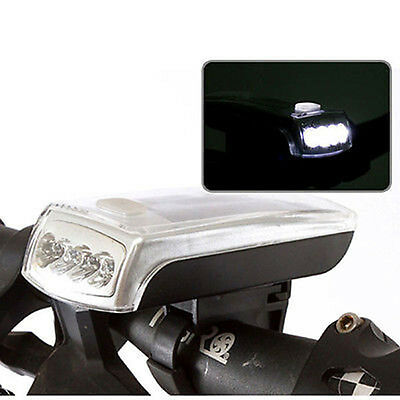 Riding Bike Bicycle USB 2.0 Rechargeable 4 LED Solar Power Front Head Light Lamp