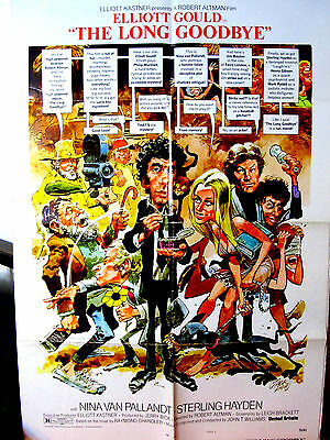 The Long Goodbye G-VG.Orig.US One Sheet rare Style C 27x41 movie poster R.Altman