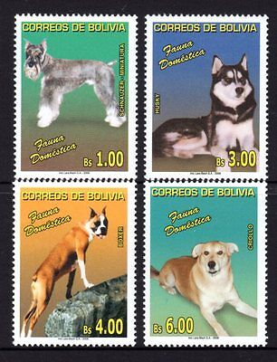 Bolivia 2006 Dogs Set 4 MNH