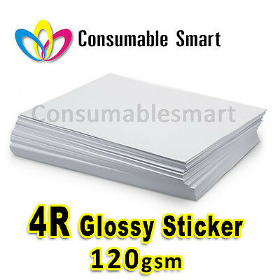 4R 4x6 120gsm Glossy Sticker Inkjet Photo Paper Water Proof UV Resistant