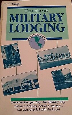 Miltary Living Book temporary Military Lodging paperback Book