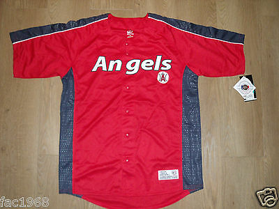 MLB Dynasty Series Maillot De Baseball Haut LOS ANGELES 'ANGELS' - Anges Rouge