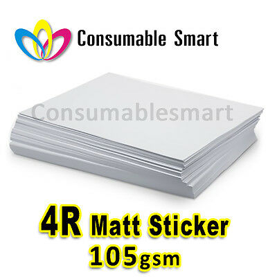 4R 4x6 105gsm Matt Sticker Inkjet Photo Paper Water Proof UV Resistant