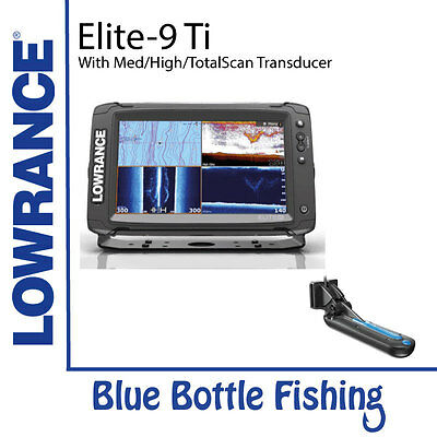 Lowrance Elite-9 Ti with Med/High/TotalScan Transducer and C-MAP Aus/NZ Card.
