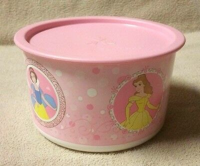 Tupperware DISNEY PRINCESS Pink White One Touch Canister C w/ Seal Lid 2709A