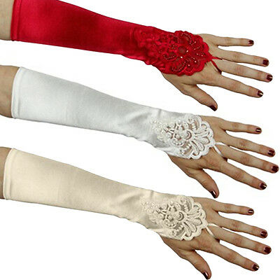 Fashion Elegant  Ladies Women Girls Long Party Bridal Dance Gloves Show Gloves