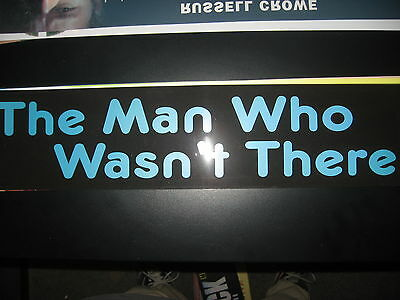 Theater Marquee Mylar The Man Who Wasnt There