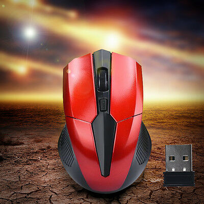 Funkmaus Wireless Optisch Gaming Mouse USB Receiver 2000DPI for Laptop Computer