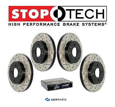 Mercedes W203 W208 W210 Front and Rear StopTech Drilled Slotted Brake Rotors Kit