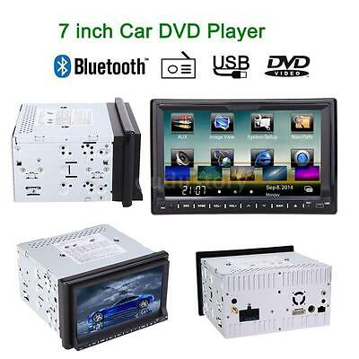 7 Inch Hd Touch Screen 2din Car Stereo Radio Dvd Player Bluetooth Gps Navi