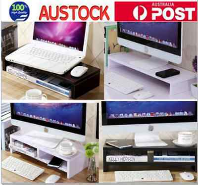 Wooden HD LED LCD Monitor Stand Computer Desktop Stand Neck Pain Release
