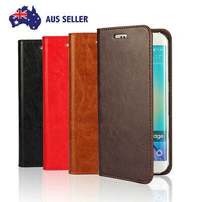 High Quality Genuine 100% Leather Case Cover For Samsung Galaxy S5 S6 S7 Edge