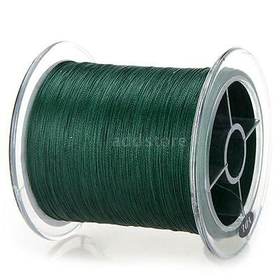 300M 50LB 0.26mm Fishing Line Strong Braided 4 Strands Durable Dark Green R4F6