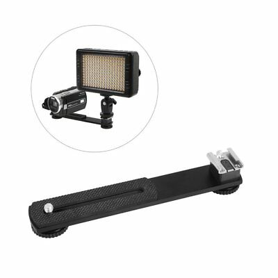 "Dual Bracket Mount Holder Hot Shoe W/ 1/4"" Screw For DV LED Video Light Camera"