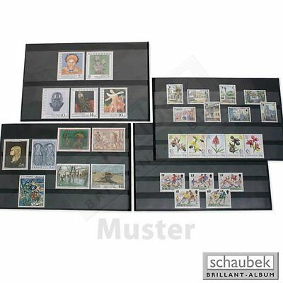 Stock card for stamps. Schaubek - Made in Germany. 5 Pockets. Pack of 50