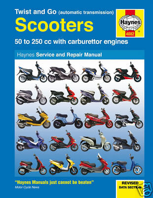 Manuale Scooter Haynes: Twist & Go Automatica scooter 4082 NUOVO