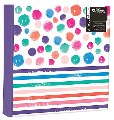 New Spot Stripe (6'' x 4'') Holds 200 Photos Gift Picture Photo Book