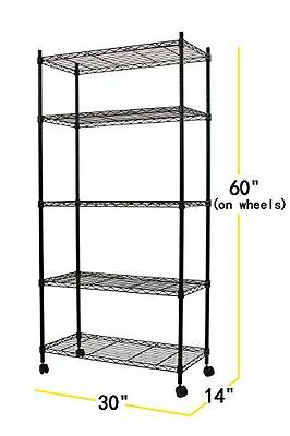 Shelving Storage Rack Wheeled Stainless Steel Kitchen Catering Restaurant Supply
